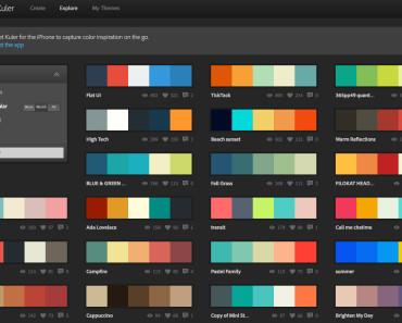 Adobe Kuler: Perpustakaan Warna Para Desainer